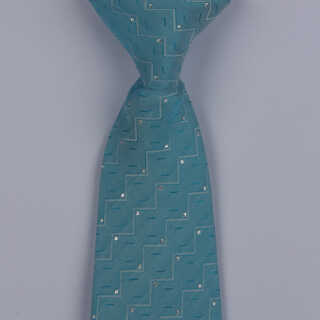 Blue Stairs Design Clip-on Tie-0