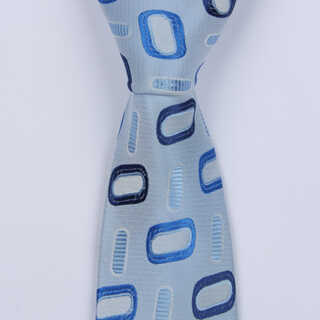 BLUE ABSTRACT BOYS TIE-0