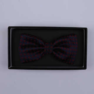 Black/Red Circles Bow Tie-0