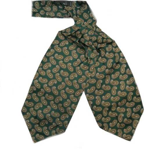 RACING GREEN busy PAISLEY SILK CRAVAT-0