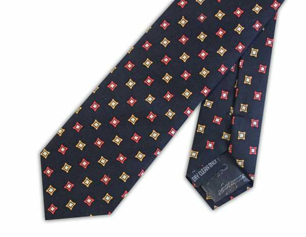 BLACK/ORANGE DIAMONDS SILK SKINNY TIE-0