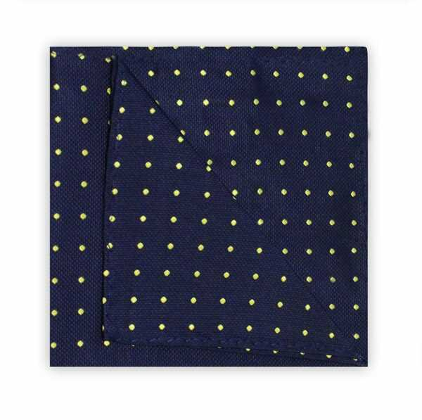 NAVY/YELLOW SPOT SQUARE-0