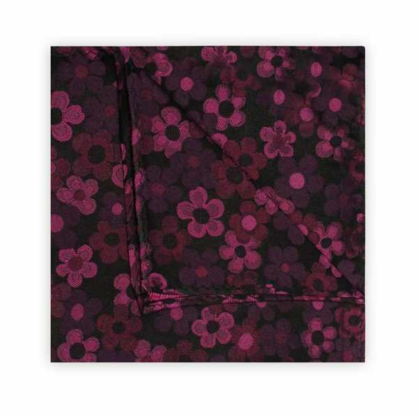 60's FLORAL PINK SQUARE-0