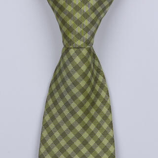 OLIVE GREEN GINGHAM BOYS TIE-0