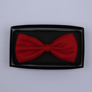 Plain Red Bow Tie-0