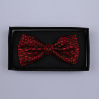 Red Patterned Bow Tie