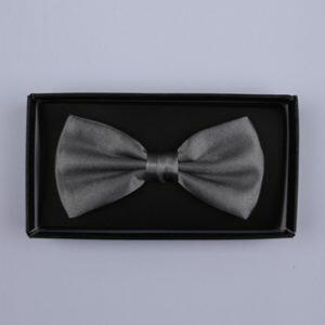Plain Grey Bow Tie-0