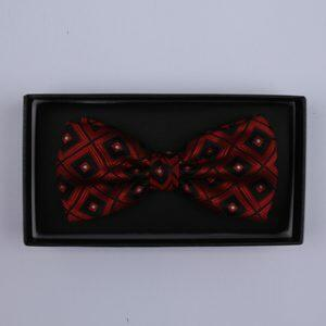 Black/Red Squares Bow Tie-0