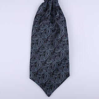 Black Paisley Poly Self-Tie Cravat-0