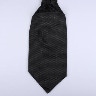 Black Dots Poly Self-Tie Cravat-0