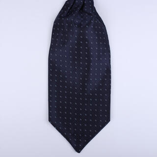 Navy Poly Self-Tie Cravat-0