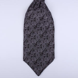 purple Paisley Self-Tie Cravat-0