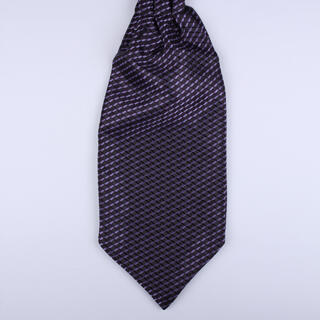 Purple geometric Self-Tie Cravat-0