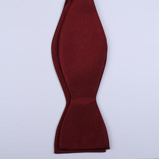 PLAIN Burgundy Self-Tie Bow Tie-0