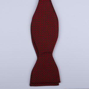 Red micro pattern Self-Tie Bow Tie-0