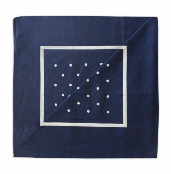 Navy/white Polka dot Neckerchief-0