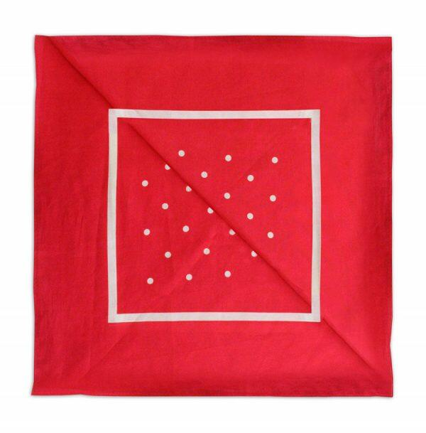 Red/white polka dot Neckerchief-0