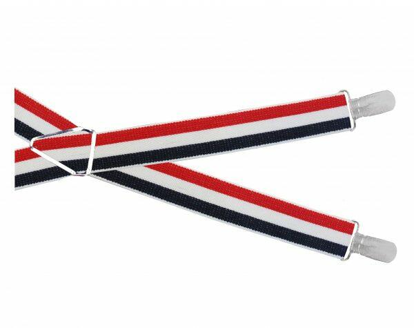 Red white and navy Mod Stripe BRACES-0