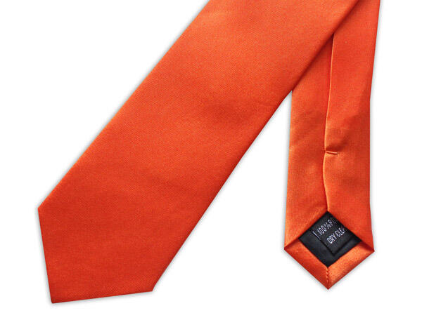 SKINNY ORANGE TIE-0