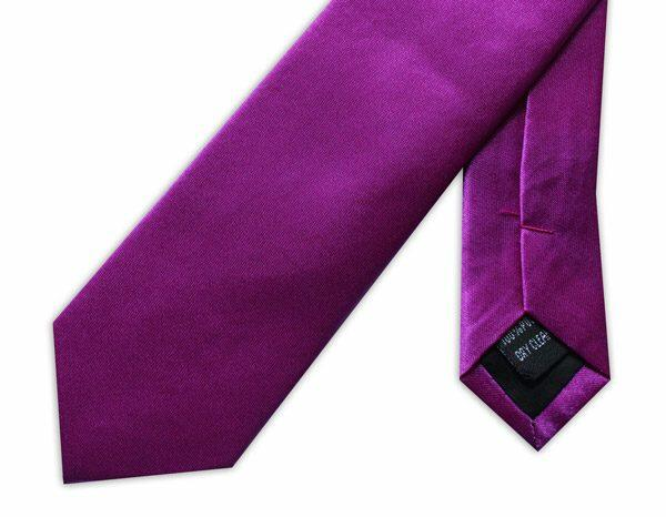 SKINNY BRIGHT PURPLE TIE-0