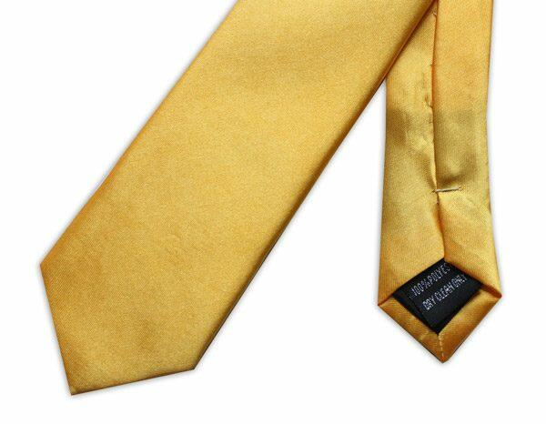 SKINNY BRIGHT YELLOW TIE-0