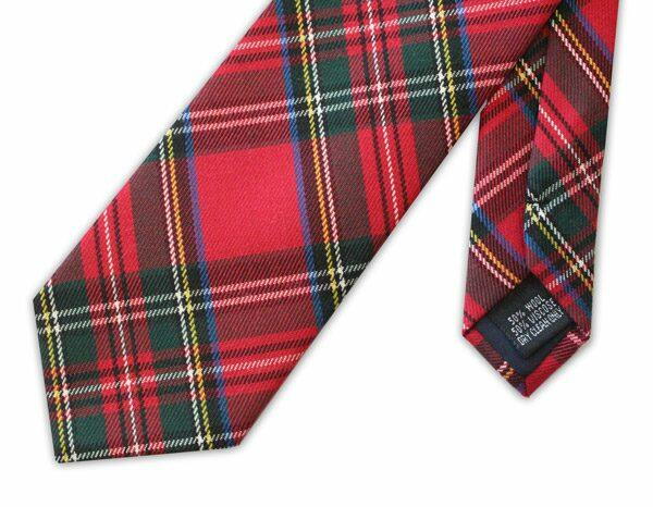 Red Tartan Clip on Tie-0