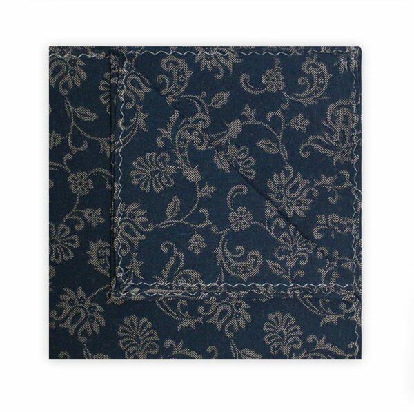 BLUE/GREY FLORAL SQUARE-0
