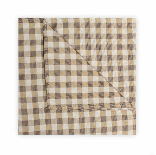 BEIGE/BROWN GINGHAM SQUARE-0