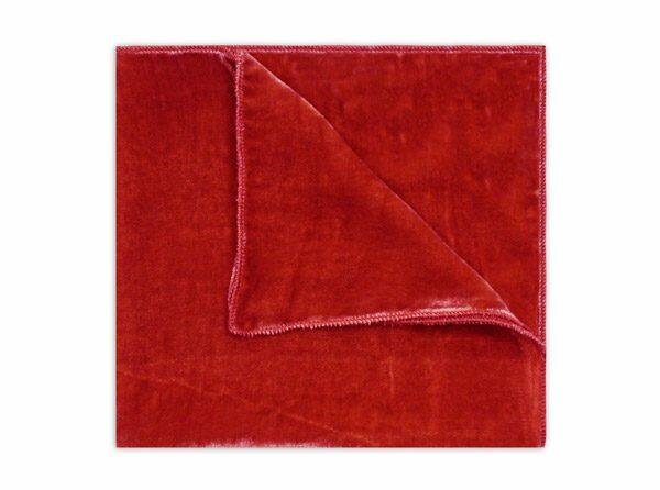 RED SILK VELVET SQUARE-0