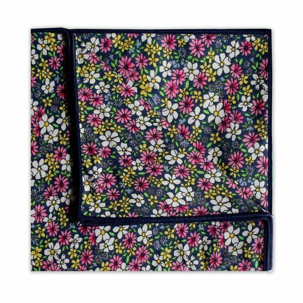 PINK/YELLOW/BLACK FLORAL SQUARE-0
