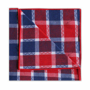 NAVY/RED CHECK SQUARE-0