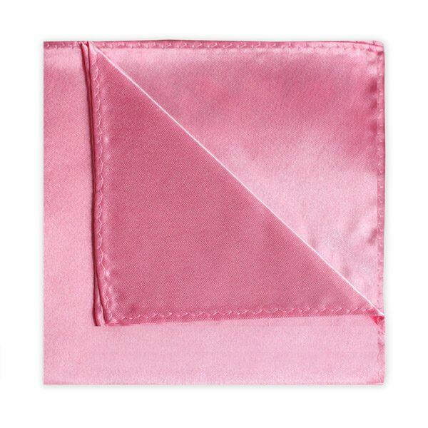 BRIGHT PINK POLY SATIN SQUARE-0