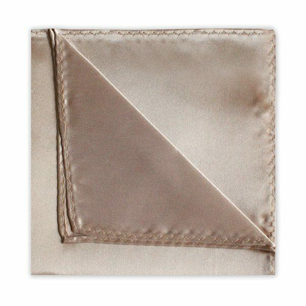 BEIGE POLY SATIN SQUARE-0