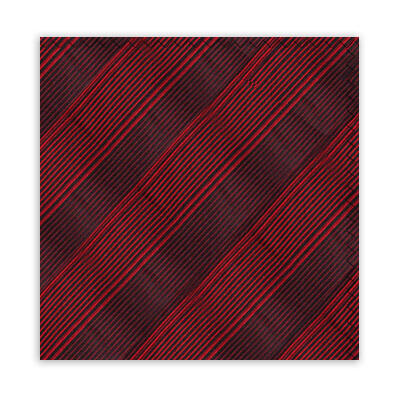 RED & BLACK STRIPE SQUARE-0