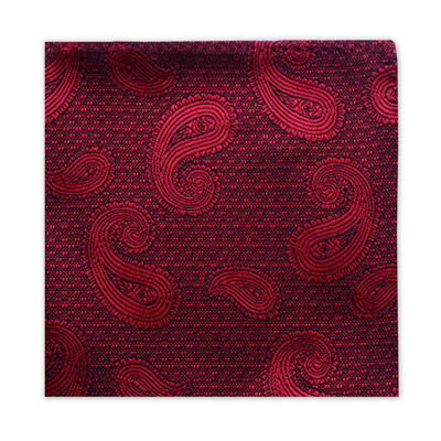 DEEP RED PAISLEY SQUARE-0