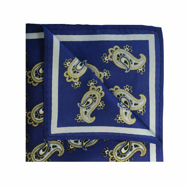 PAISLEY blue/yellow PRINTED SQUARE-0