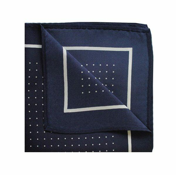 Pin dot square in navy/white-0