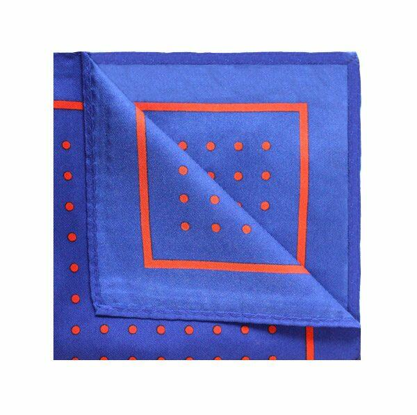 Royal Blue/Red POLKA DOT Square-0