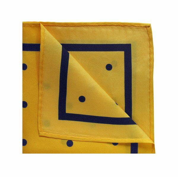 YELLOW/NAVY POLKA DOT SQUARE-0