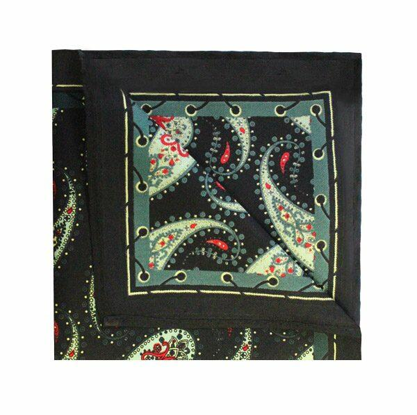 DARK GREEN PAISLEY PRINTED Square-0