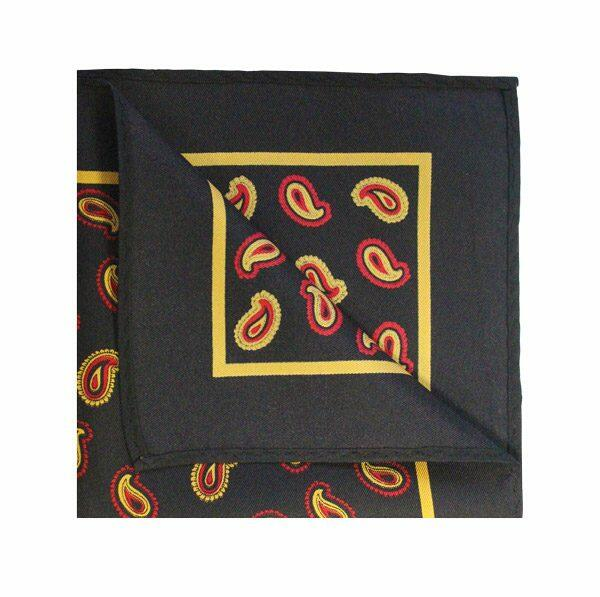 Black/yellow PAISLEY SQUARE-0