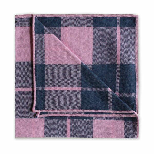 NAVY/PINK CHECK SQUARE-0