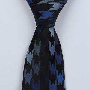 BLUE MULTI LARGE HOUNDSTOOTH BOYS TIE-0