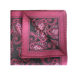 Pink/purple/black Paisley square-0