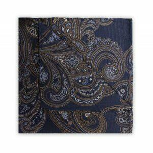 NAVY/WHITE/YELLOW PAISLEY SQUARE-0