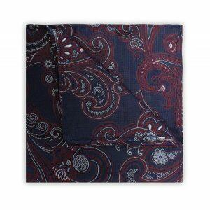 NAVY/WHITE/RED PAISLEY SQUARE-0