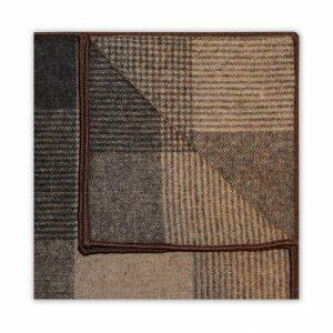 LARGE BEIGE/BROWN CHECK SQUARE-0