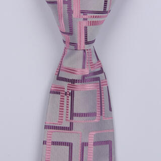 Lilac/Pink Abstract Boys Tie