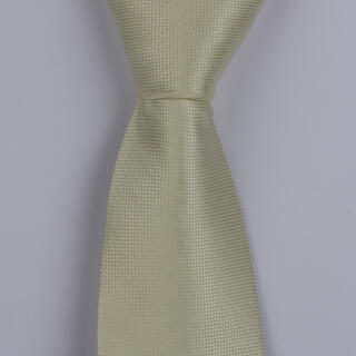 CREAM TEXTURED POLYESTER TIE-0