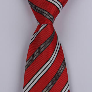 Red/Black/White XL Woven Poly Tie-0